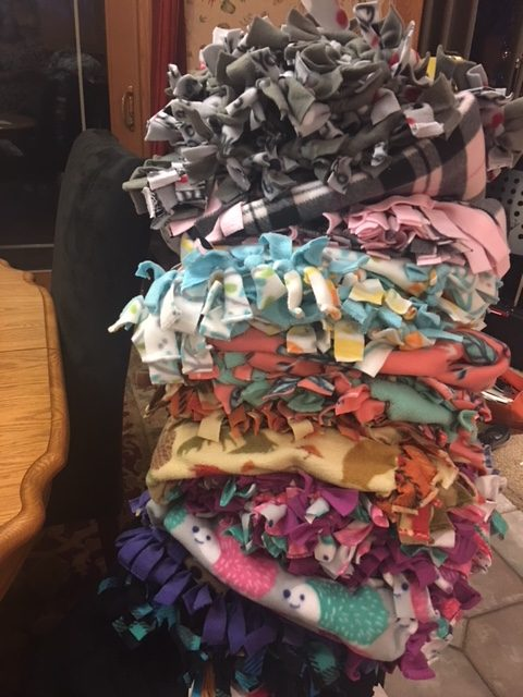 Wooland Women's Ministry Makes Blankets for YWCA Care House