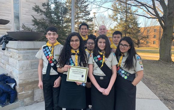 Milwaukee Panthers Pathfinder Club from Milwaukee SDA North Hispanic Church Place First in Lake Union Pathfinder Bible Experience