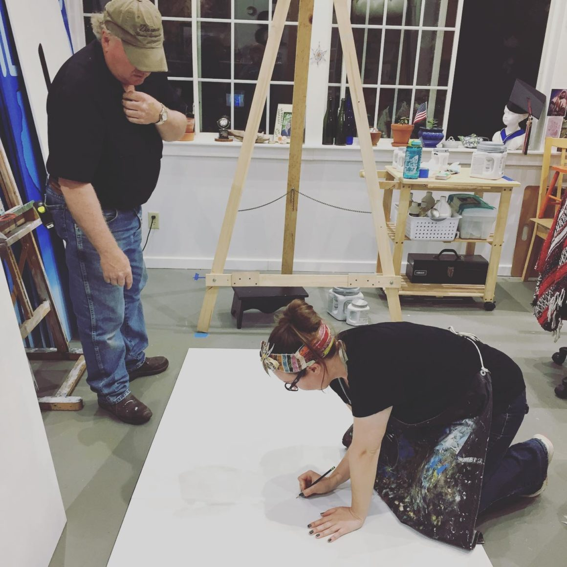 Wisconsin Artist Rebekah Helsius Designs and Paints Lake Union Oshkosh Camporee Lighthouse