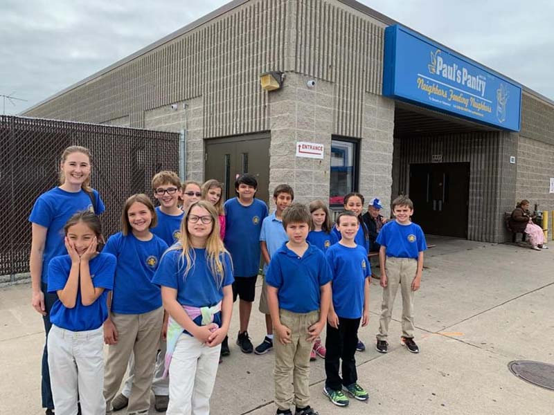 Students at Green Bay Adventist Junior Academy (AJA) are a Blessing at Paul's Pantry