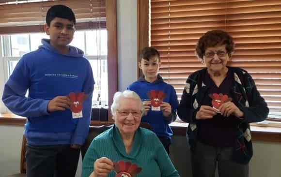 Hillside Christian School Visits Local Nursing Home Monthly
