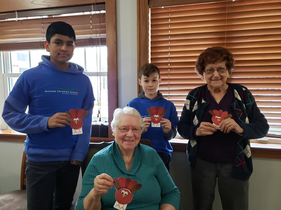 Hillside Christian School Visits Local Nursing Home Monthly