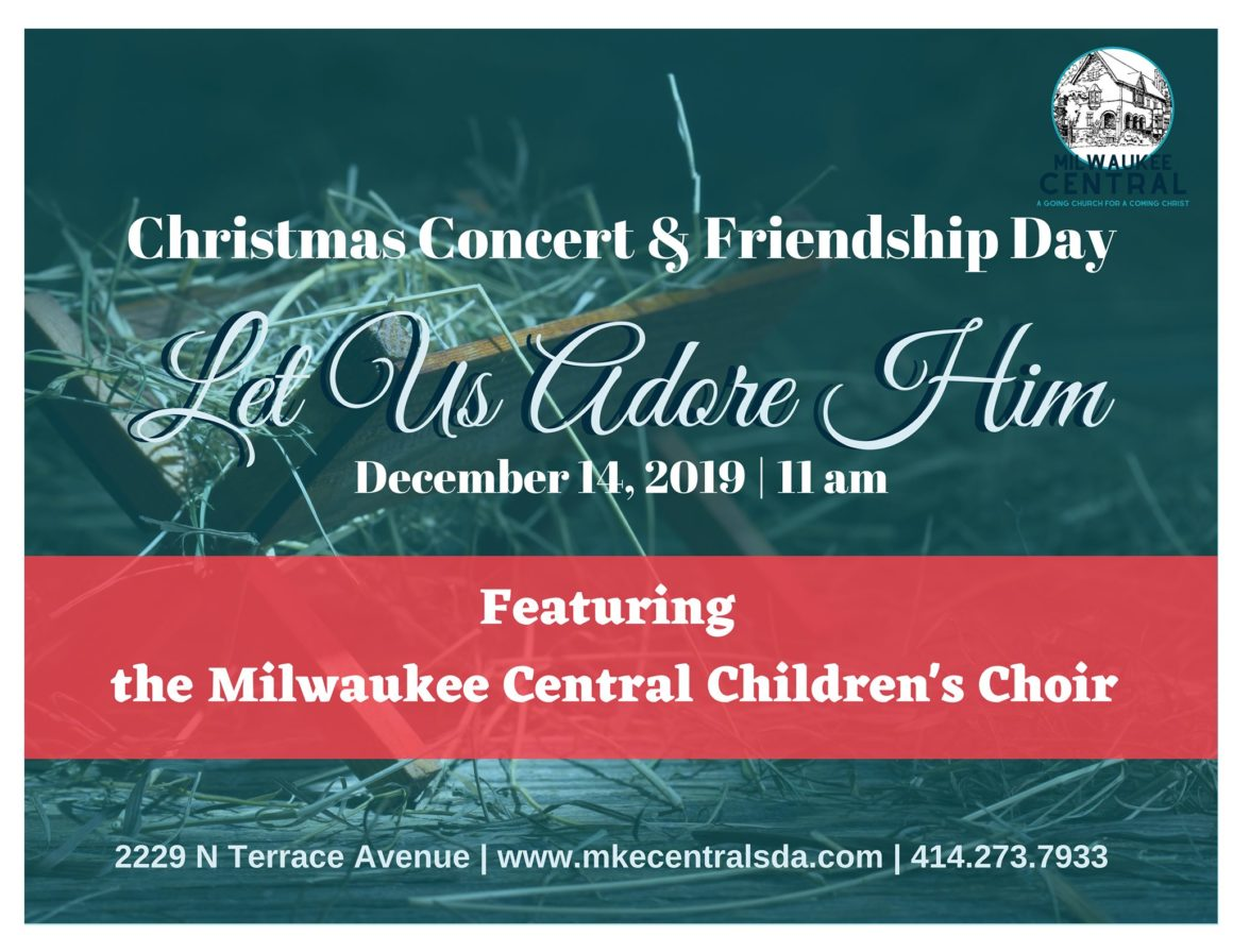 Milwaukee Central Christmas Concert, December 14 at 11:00 am