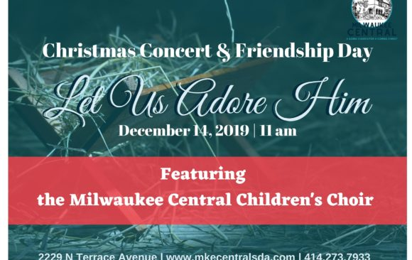 Milwaukee Central Christmas Concert, December 14 at 11:00 am