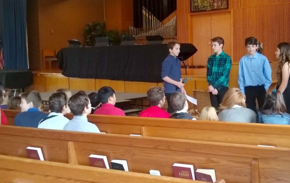 Petersen Students Lead Out in Sabbath Morning Church Services