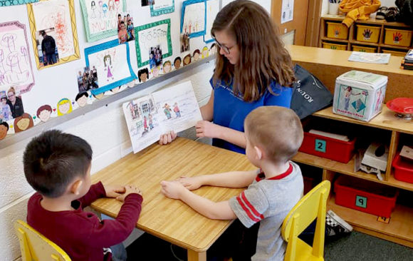 Hillside Students Assist Head Start Children