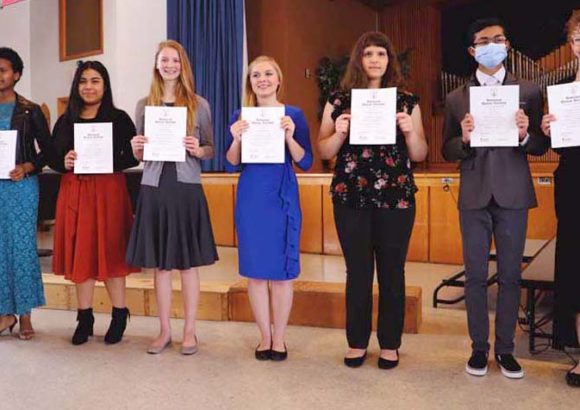 Wisconsin Academy Chapter of National Honor Society Inducts Eight Students