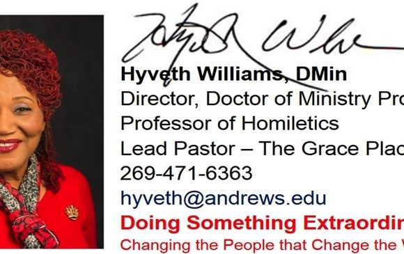 Women's Retreat with Hyveth Williams September 25-27, 2020 is Postponed