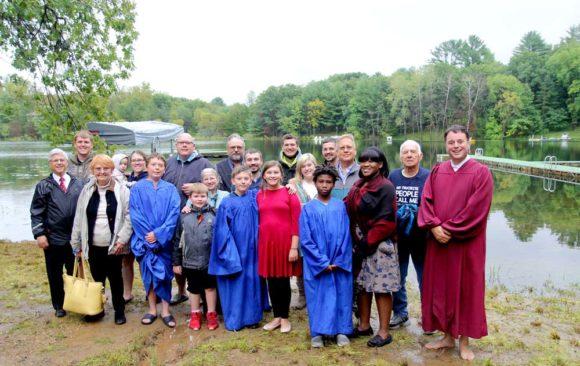 Richland Center Celebrates Baptism of Three Young Men