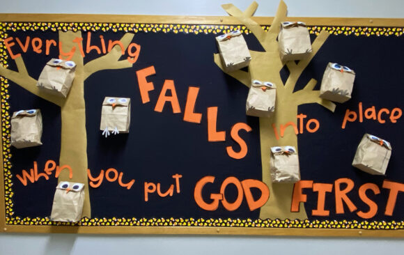 Bulletin Boards at Three Angels Christian School