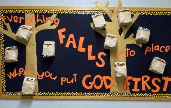 Bulletin Boards at Three Angels Christian School