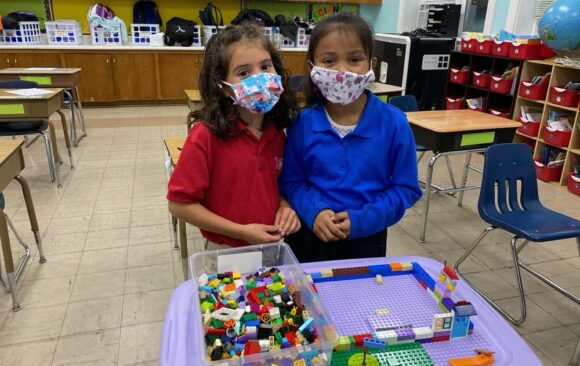 Students Enjoy Donation of Legos at Milwaukee South Campus
