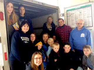 A Record 2,400 Pounds of Food Collected for Monroe Food Pantry