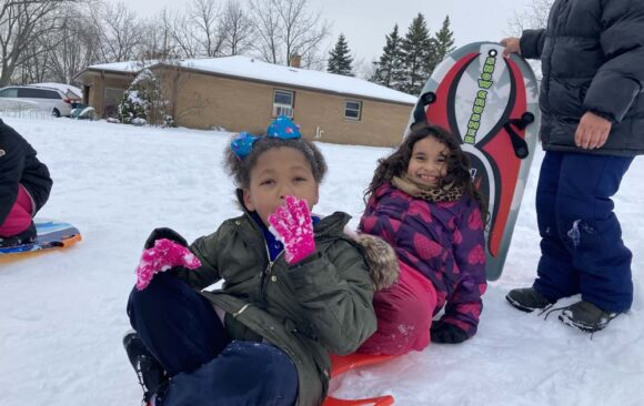 1st and 2nd Grade Students at Milwaukee North Campus Enjoy Winter Fun
