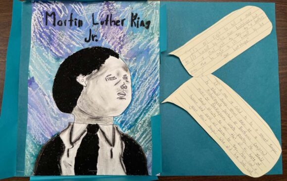 Artwork for Martin Luther King, Jr. Day by Maranatha Elementary Students