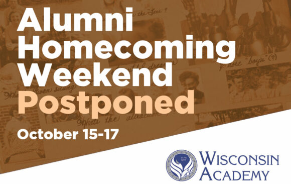 Wisconsin Academy Alumni Weekend Postponed