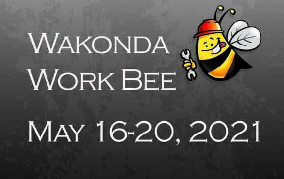 Wakonda Work Bee, May 16-20, 2021