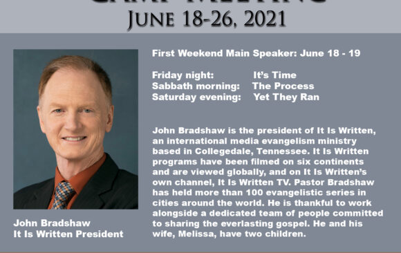 Featured Speaker for Camp Meeting: John Bradshaw