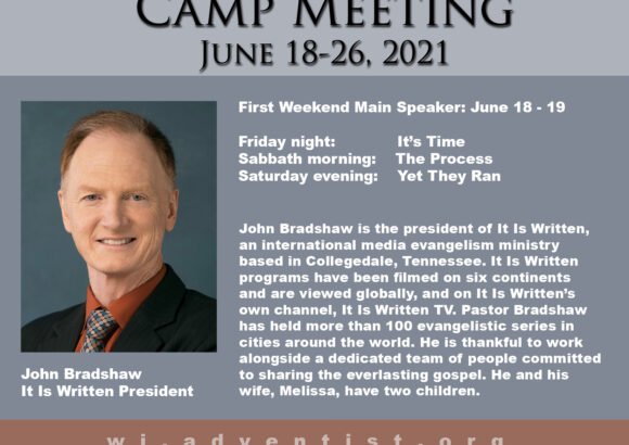Featured Speaker for Camp Meeting: John Bradshaw
