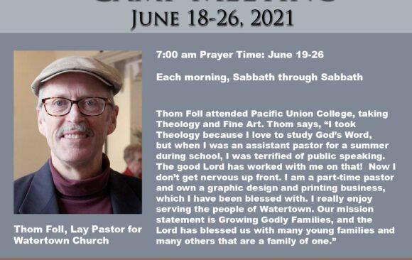 Morning Prayer Time Leader: Thom Foll