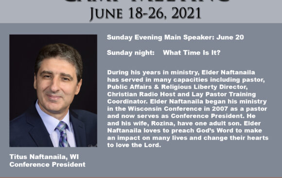 Featured Speaker for Camp Meeting: Titus Naftanaila