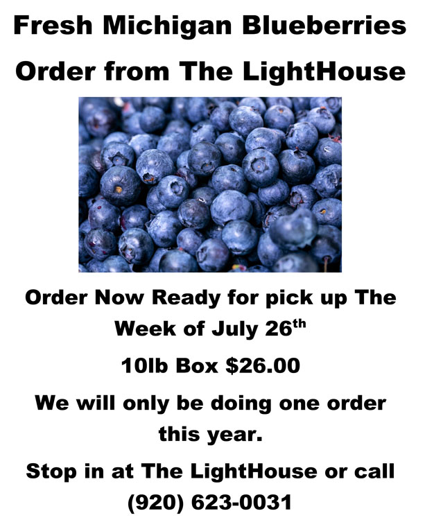 Blueberries Are Coming to The LightHouse Thrift Store