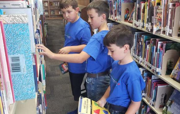Hillside Christian School's First Library Trip Post-Covid