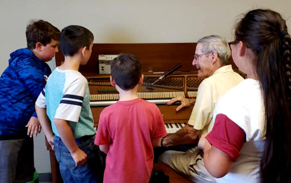 Hillside Students Learn About Piano Tuning