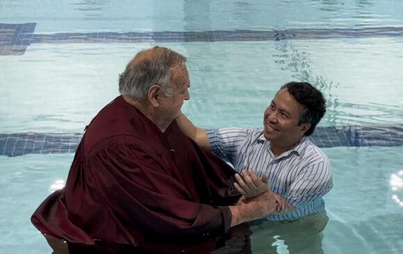 Monroe Church Celebrates Baptism