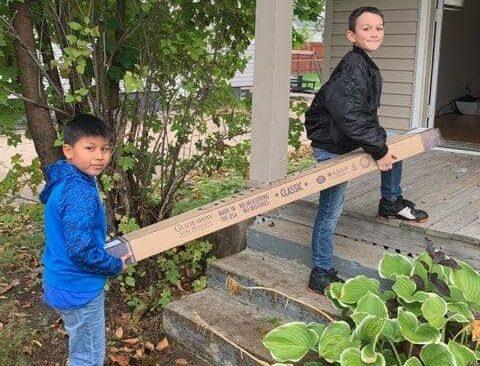 Hillside Christian School Students Deliver Beds for Kids