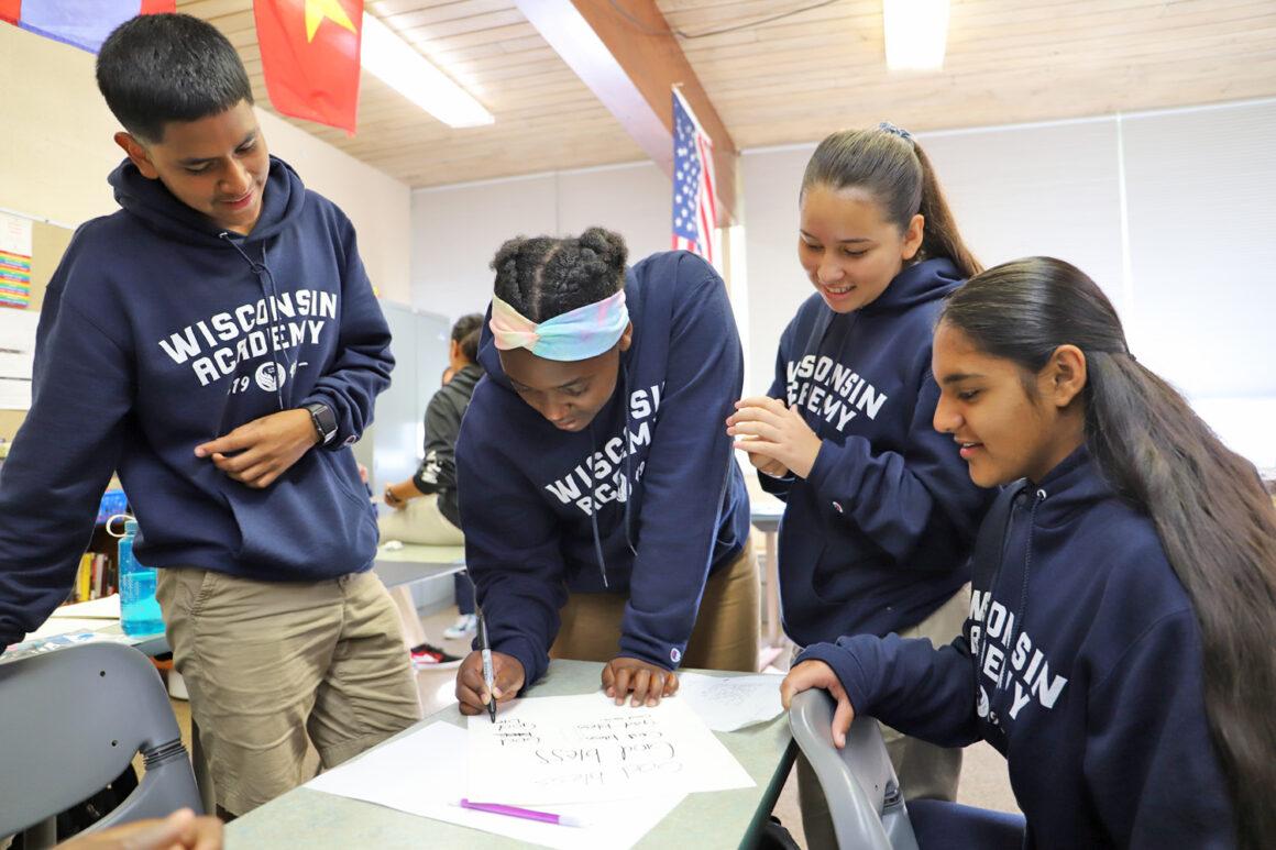 "Wisconsin Academy Freshmen Work on ""Moo Moo Land"" Project"